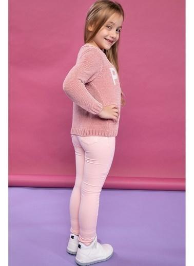 DeFacto Elastik Belli Kum Desenli Slim Fit Pantolon Pembe